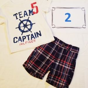 Tommy Hilfiger shirt and shorts set